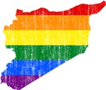 Syria Rainbow Pride Flag And Map