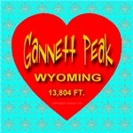 Gannett Peak Wyoming Snowflake Heart