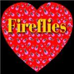 Fireflies Red Hot Heart