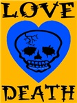 Death of Love Blue Skull Heart