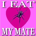 I Eat My Mate Anti-Valentine Spider Heart