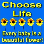 Choose Life Beautiful Babies Blue