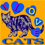 I Love Cats Orange