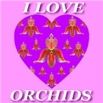 I Love Orchids Stylish Orchid Hearts