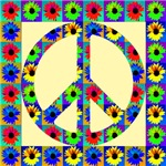 Peace Symbol Blackeyed Susans on Ivory
