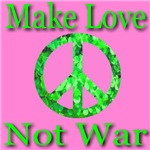 Shamrock Peace Symbol Make Love Not War