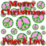 Merry Christmas Peace Symbols