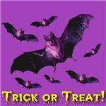 Trick or Treat Bat Swarm Deep Violet