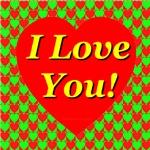I Love You Heart Mosaic