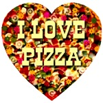 I Love Pizza Heart