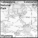 Map Yellowstone National Park Wyoming