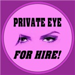 Private Eye For Hire Emblem Purple