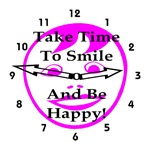 Take Time To Smile And Be Happy! Pink