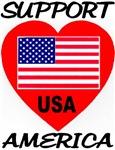 Support America USA Classic Heart