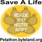 Petathon Save A Life Golden Medallion Paw