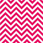 Hot Pink Chevron Zigzags
