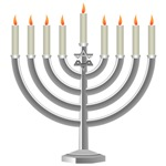 Menorah at Hanukkah