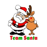 Funny Team Santa