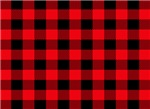 Plaid red and black