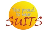 Too proud to wear suits