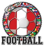 Peru Flag World Cup Football with World Flags