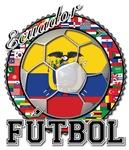 Ecuador Flag World Cup Futbol Ball With World Flag
