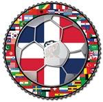 Dominican Republic Flag World Cup Futbol Football