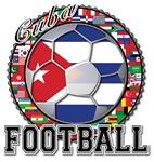Cuba Flag World Cup Football Ball with World Flags