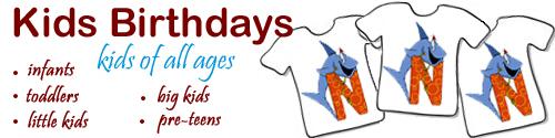 Kids, toddler, baby birthday t-shirts & gift ideas