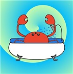 Crab in Tub (Blue Waves)