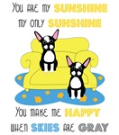 You are my Sunshine - Boston Terrier Art
