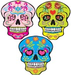 DAY OF THE DEAD AND COLORFUL SUGAR SKULLS