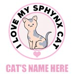 Personalized Sphynx Cat Lover T-Shirts