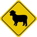 Sheep Crossing Sign T-Shirts