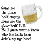 Half Glass Of Beer
