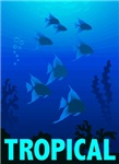 Graphic Tropical Fish T-Shirts