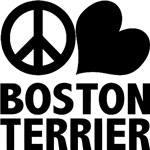 Peace Love Boston Terrier T-Shirts
