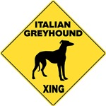 Italian Greyhound Crossing Sign