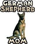 German Shepherd Mom T-Shirts