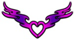 Pink and Purple-Winged Heart