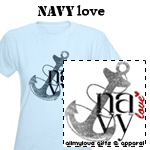 Navy Love T-Shirts and Gifts