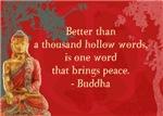 Better than a thousand hollow words...