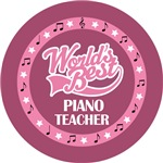 PIANO TEACHER (Worlds Best) T-SHIRT GIFTS