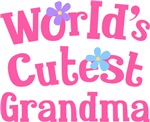Worlds Cutest Grandma Gifts and T-shirts
