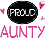Proud Aunty Butterfly T-shirts and Gifts
