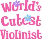 Worlds Cutest Violinist Music T-shirts