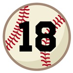 Personalized Baseball Player Number T-shir