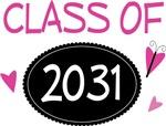 Cute Class of 2031 Pride T-shirts