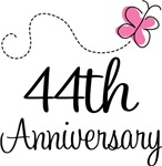 44th Anniversary Pink Butterfly Keepsake Gifts