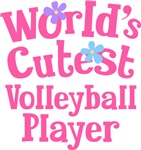 Worlds Cutest Volleyball Player Gifts and T-shirts